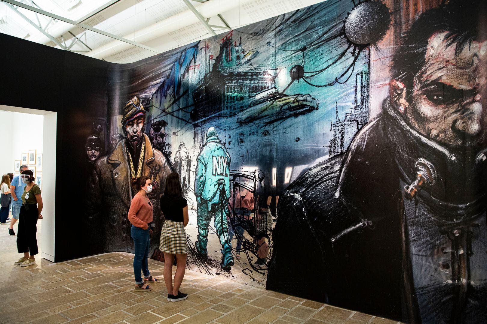 """Exhibition view of """"Enki Bilal"""". Photo: Nathalie Savale © FHEL, 2020."""
